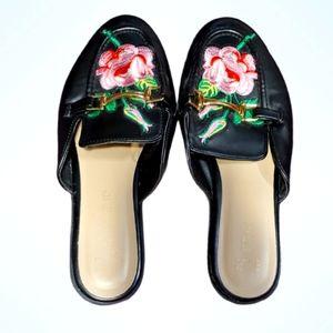 Primark Floral Slip On Loafers